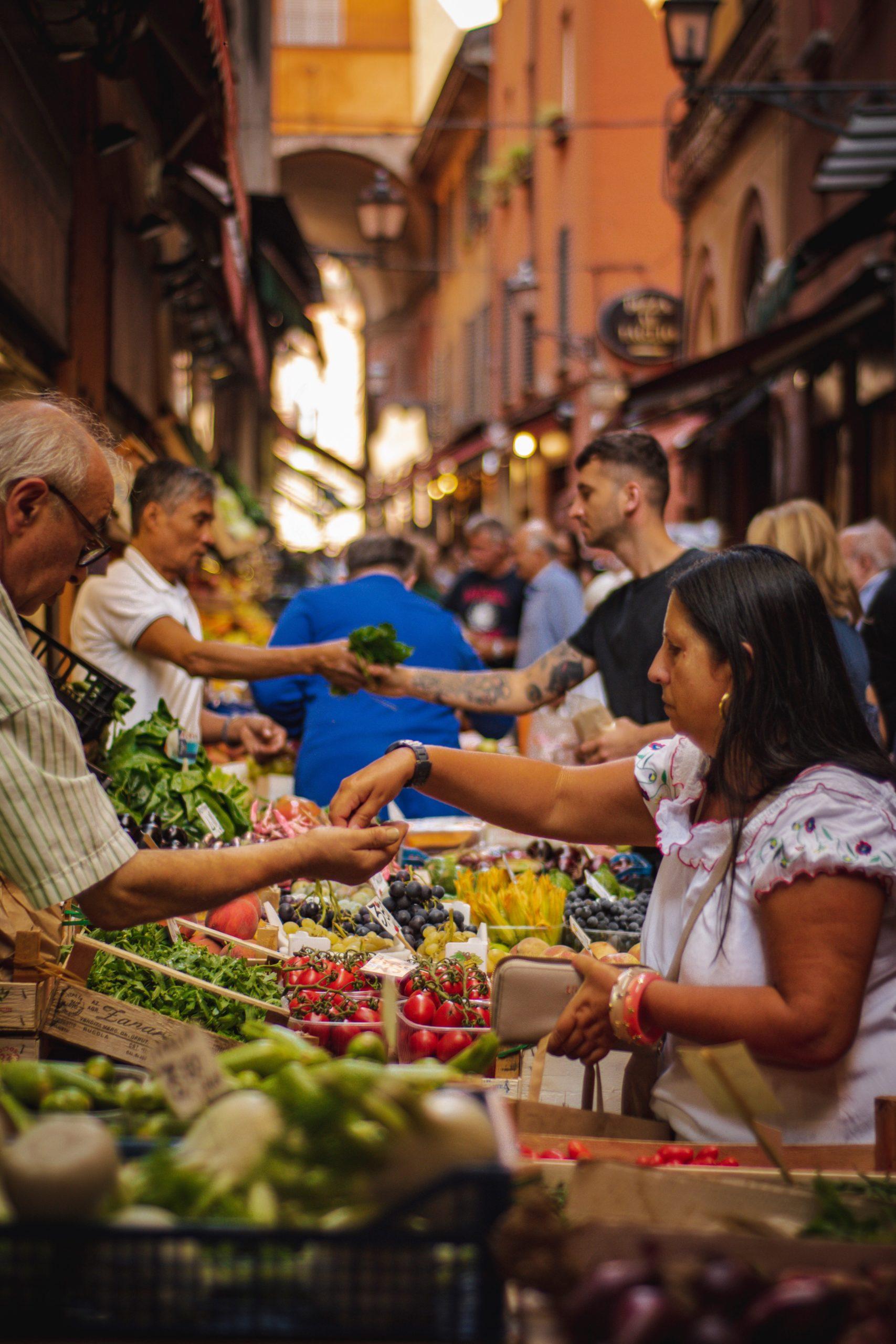 Handel na straganie warzywnym, wymiana